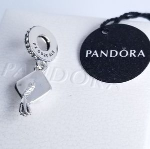 Pandora Graduation Dangle Charm Hard Work pays off